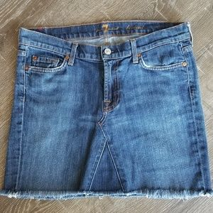 7 For All Mankind Jean Skirt Size 31